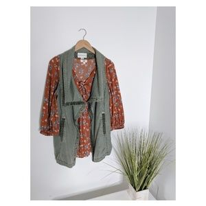 Anthropologie • Marrakech Green Tombolo Vest